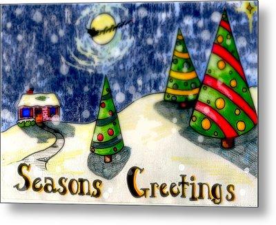Seasons Greetings Metal Print by Jame Hayes