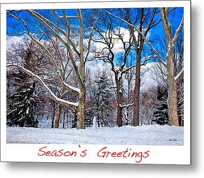 Season's Greetings Metal Print by Madeline Ellis