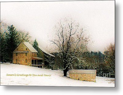 Metal Print featuring the photograph Season's Greetings To You And Yours by Polly Peacock