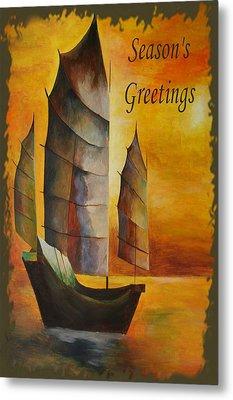 Season's Greetings Metal Print by Tracey Harrington-Simpson