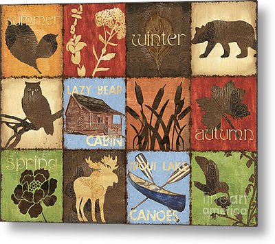 Seasons Lodge Metal Print by Debbie DeWitt