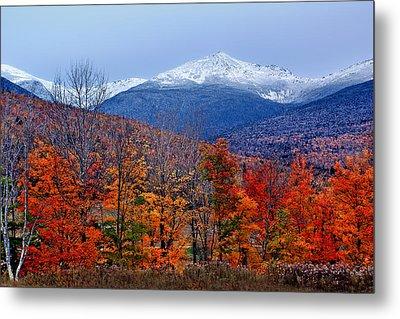 Seasons' Shift #2 - Mount Washington - White Mountains Metal Print by Nikolyn McDonald
