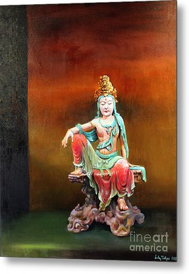 Seated Kuan Yin Metal Print