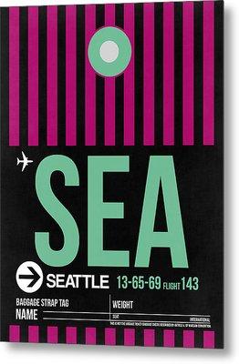 Seattle Airport Poster 4 Metal Print