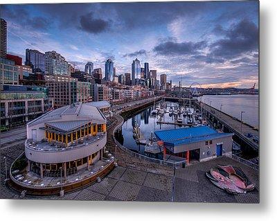 Seattle Bell Street Pier Metal Print by Dan Mihai