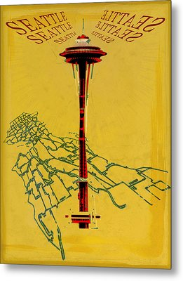 Seattle Calling Metal Print by Sandstone Inc
