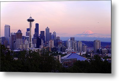 Seattle Dawning Metal Print by Chad Dutson