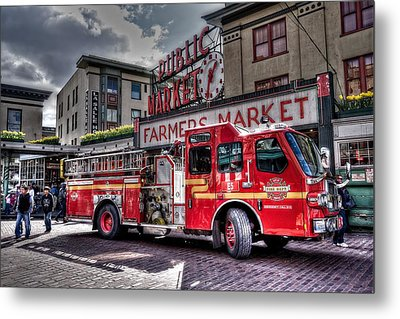 Seattle Fire Engine Metal Print