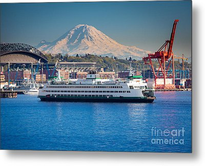 Seattle Harbor Metal Print by Inge Johnsson