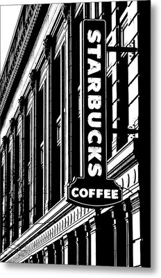 Seattle Icon Black And White Metal Print by Benjamin Yeager