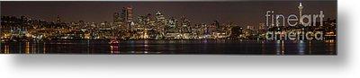 Seattle Lake Union Winter Reflection Metal Print