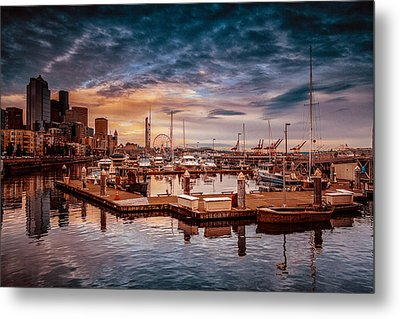 Seattle Marinescape. Metal Print