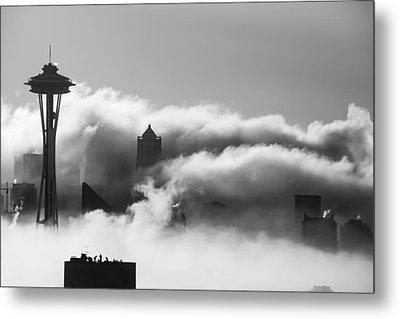 Seattle Fog Metal Print