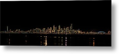 Seattle Panorama Metal Print by Brian Xavier