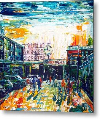 Seattle Public Market Center Metal Print by Suzanne King