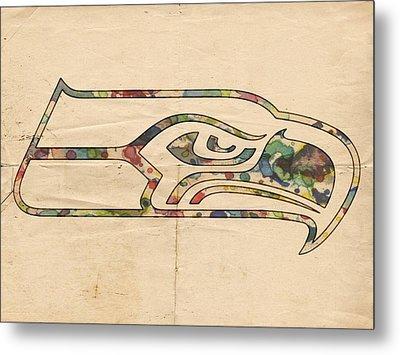 Seattle Seahawks Poster Art Metal Print by Florian Rodarte