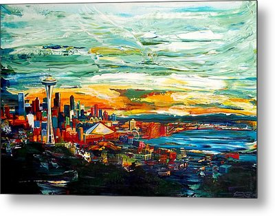 Seattle Sky Metal Print by Suzanne King