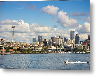 Seattle Skyline Metal Print by Janis Knight
