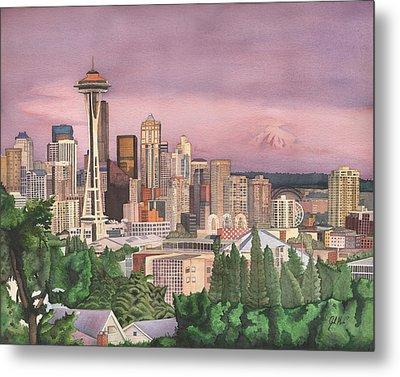 Seattle Skyline Metal Print by Josh Marks