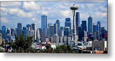 Seattle Skyline Panorama Metal Print by Ricardo J Ruiz de Porras