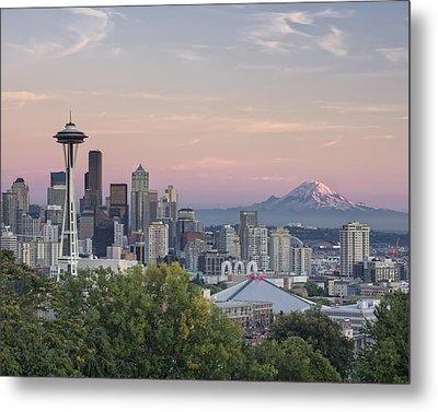 Seattle Sunset Metal Print