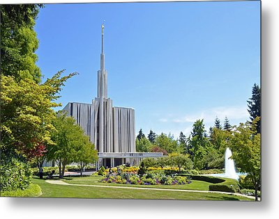 Seattle Temple - Horizontal Metal Print