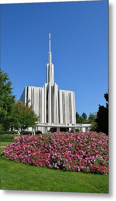 Seattle Temple Metal Print