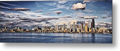 Seattle Washington - Skyline 4 Metal Print