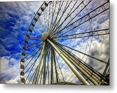 Seattle's Great Wheel Metal Print