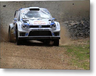 Sebastian Ogier Fia World Rally Championship Australia Metal Print by Noel Elliot