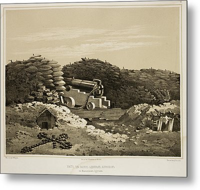 Sebastopol Front Line Trenches Metal Print by British Library