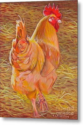 Sebastopol Rooster Metal Print by K L Kingston