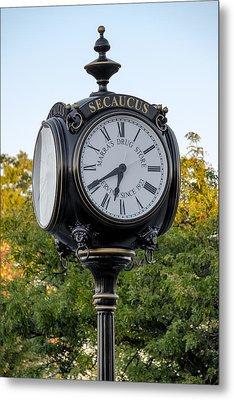 Secaucus Clock Marras Drugs Metal Print by Susan Candelario