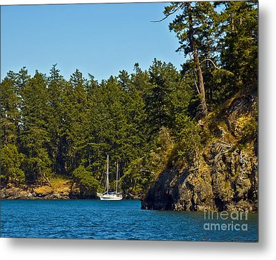 Secluded Anchorage Metal Print