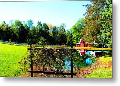Secluded And Secure Metal Print by Tina M Wenger