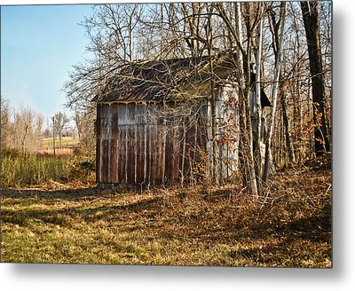 Secluded Barn Metal Print by Greg Jackson