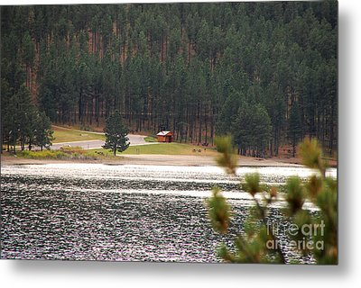 Metal Print featuring the photograph Secluded Cabin by Mary Carol Story