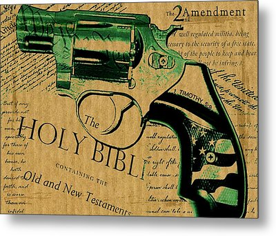 Second Amendment Metal Print by ABA Studio Designs