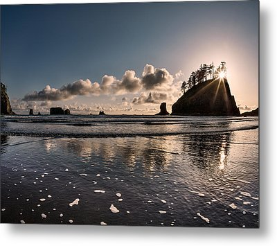 Second Beach Light And Current Metal Print by Leland D Howard