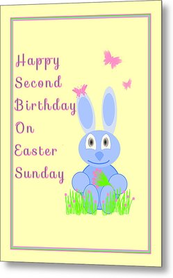 Second Birthday On Easter Metal Print by Rosalie Scanlon
