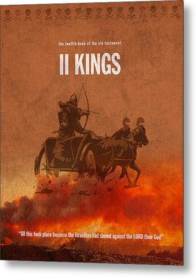 Second Kings Books Of The Bible Series Old Testament Minimal Poster Art Number 12 Metal Print by Design Turnpike