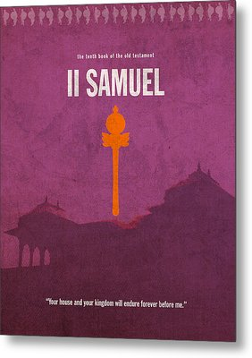 Second Samuel Books Of The Bible Series Old Testament Minimal Poster Art Number 10 Metal Print by Design Turnpike