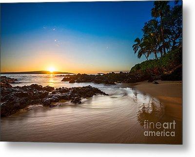 Secret Beach Sunset Metal Print