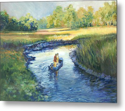 Secret Fishing Hole Metal Print by Alice Grimsley