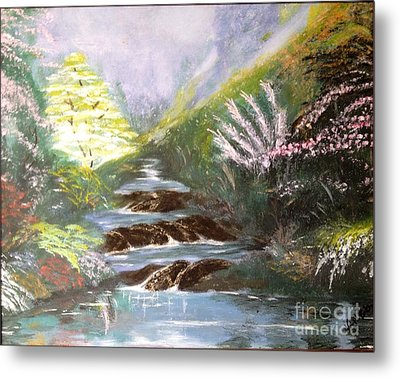 Metal Print featuring the painting Secret Garden by Vanessa Palomino
