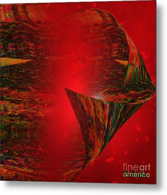 Metal Print featuring the digital art Secret Love - Abstract Art By Giada Rossi by Giada Rossi