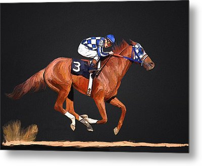 Secretariat And Turcotte Metal Print by GCannon