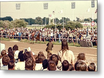 Secretariat Race Horse Coming Down To The Finish Line By Himself To Win The Big Race At Arlington R Metal Print
