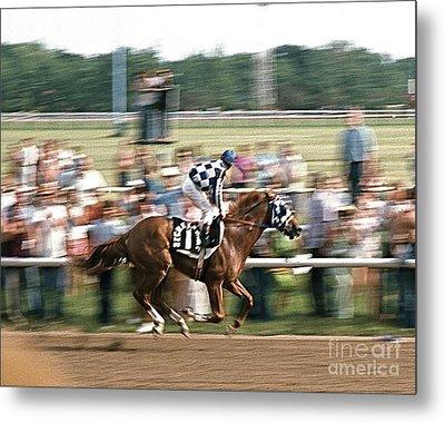 Secretariat Race Horse Winning At Arlington In 1973. Metal Print