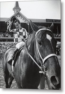 Secretariat Vintage Horse Racing #04 Metal Print by Retro Images Archive